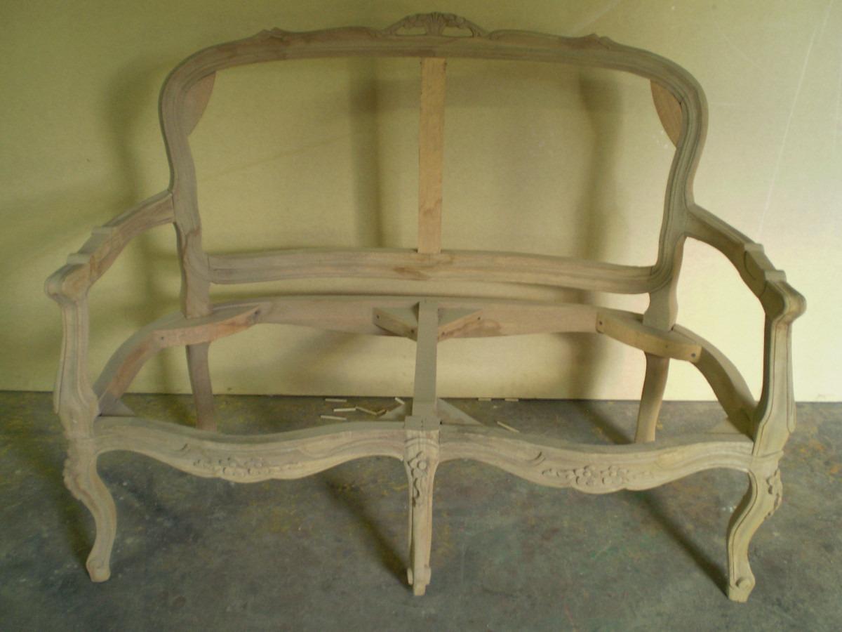 Precioso sofa estilo luis xv 2 puestos en crudo en apamate - Muebles en crudo para pintar ...