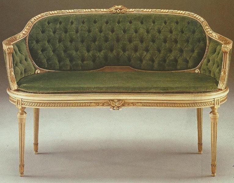 Precioso Sofa Estilo Luis Xvi 2 Puestos En Crudo En ...