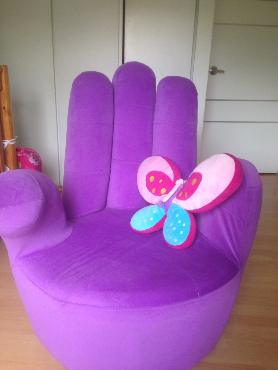 Precioso sof o puff lila para el cuarto de la ni a bs - Sofas para habitacion ...