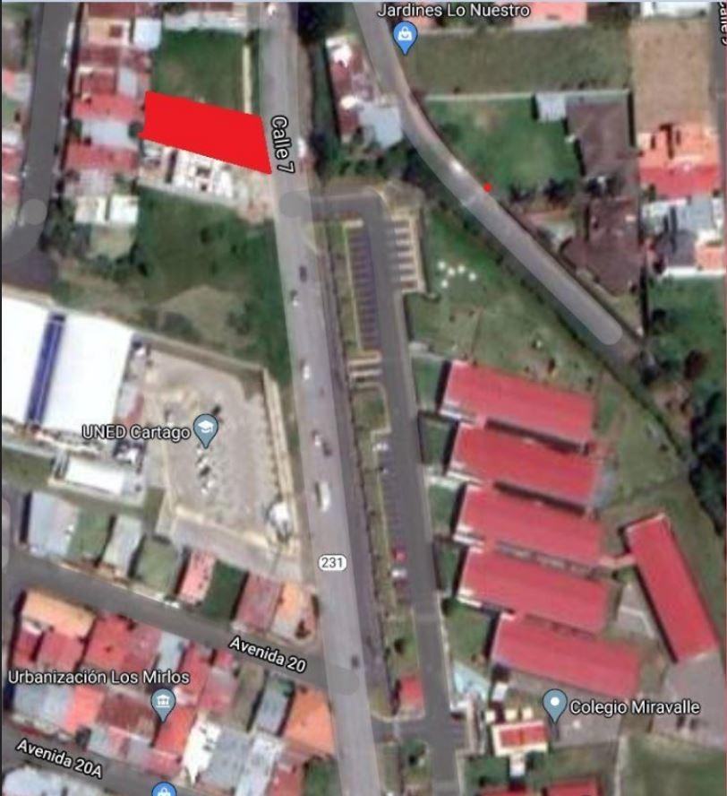 precioso terreno en venta en cartago diagonal al colegio mir