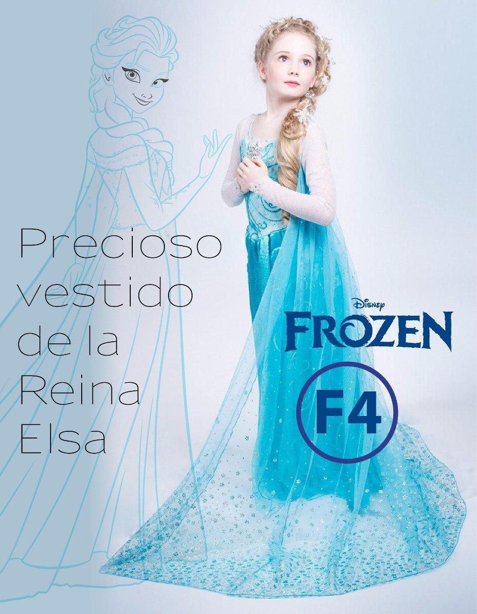 Precioso Vestido De Frozen Elsa Y Anna En Stock S 5000 En