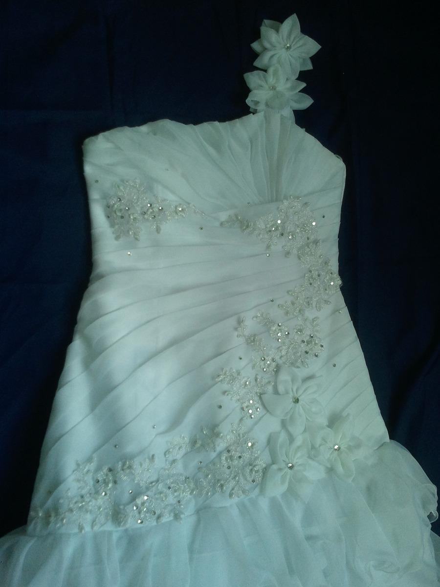Precioso Vestido De Novia Corte Sirena Con Holanes, Drapeado ...