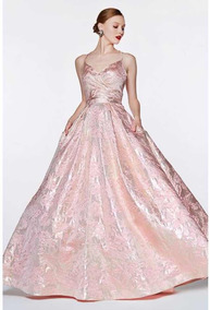 Vestido Moda Rosa Palo Vestidos De Mujer Graduación Largo