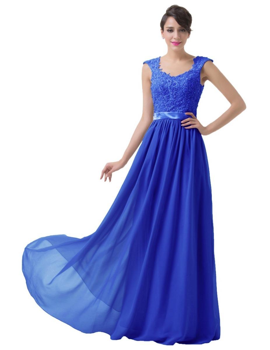 c85ec1c98 Vestido de fiesta en azul rey – Vestidos baratos