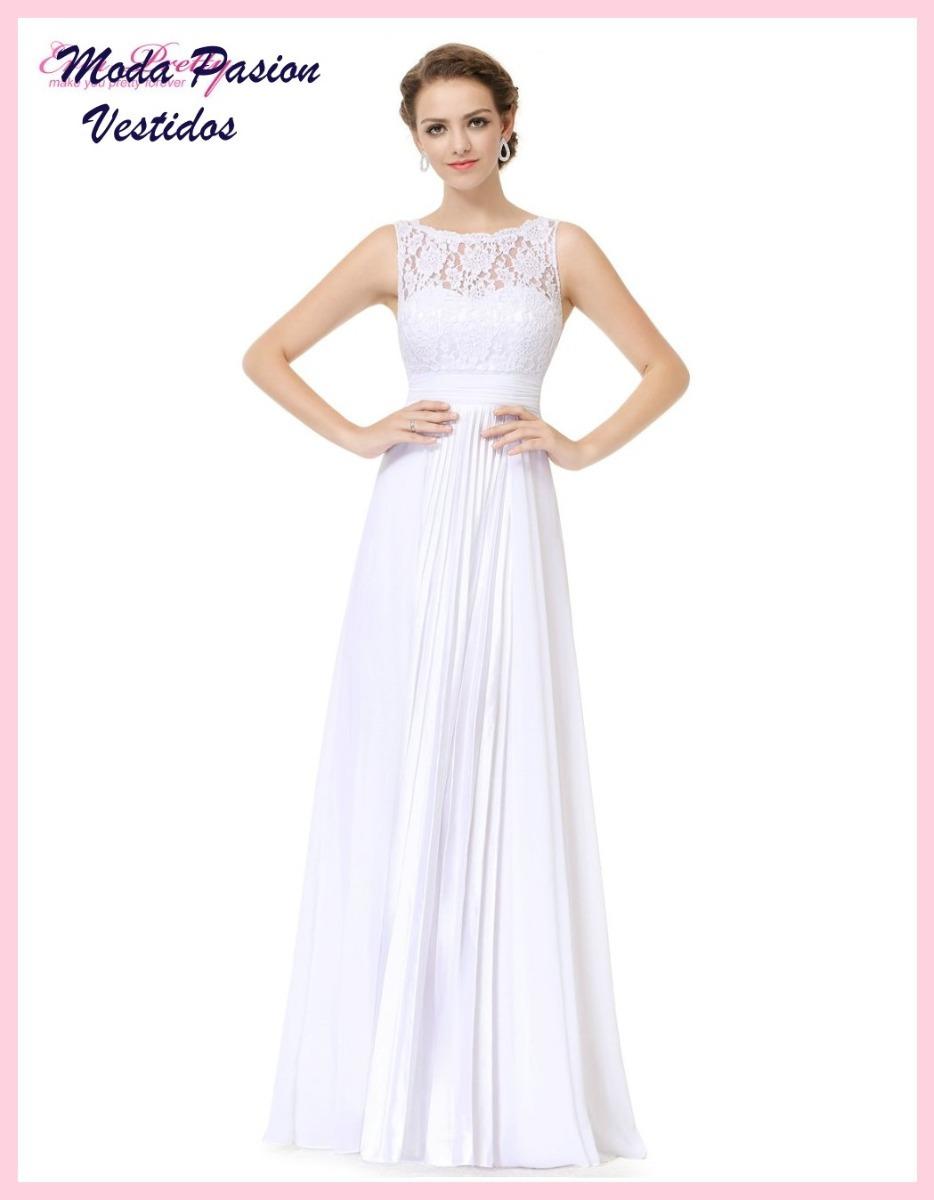 Precioso Vestido Novia Plisado Guipur Importado Moda Pasion ...