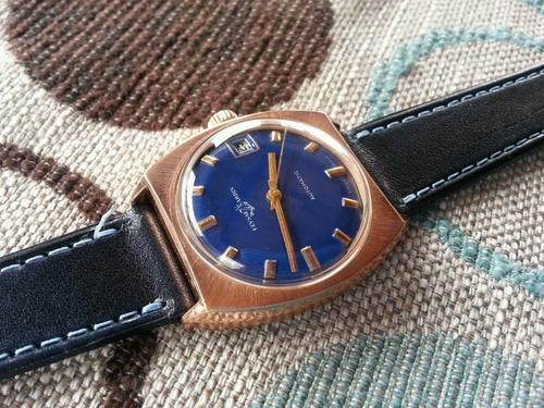 precioso vintage ulysse nardin oro 18k automático 25 jewels