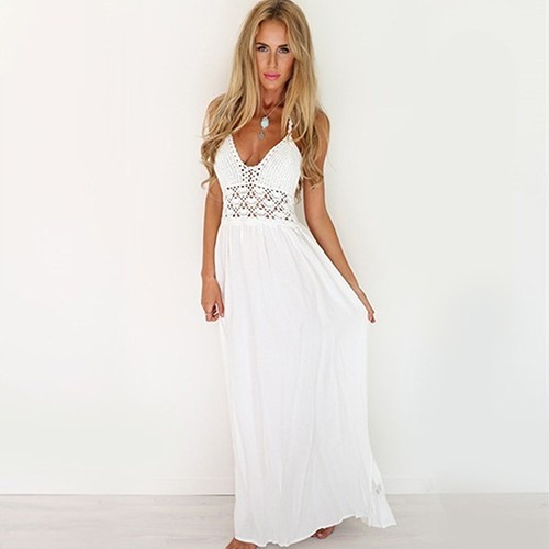 precioso y encantador vestido de novia lúdica crochet y gasa