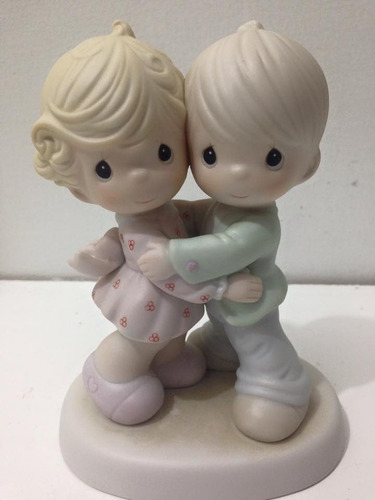 precious moments porcelana niños juntos siempre