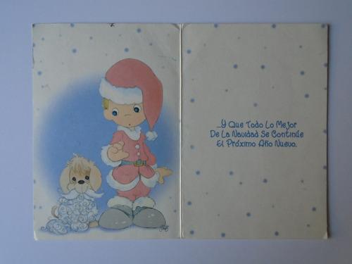 precious moments tarjeta navideña 2005