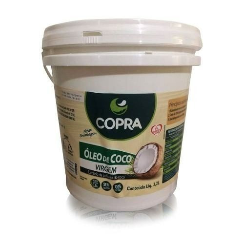 preço especial óleo de coco virgem 3,2l puro balde - copra
