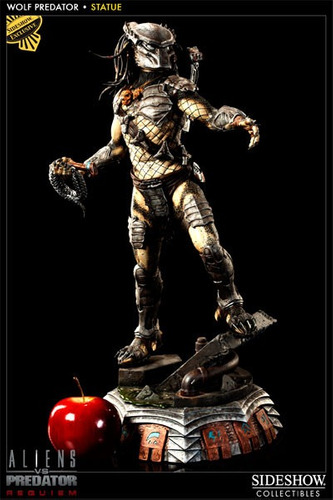 predator wolf predator statue sideshow exclusive  hot toys