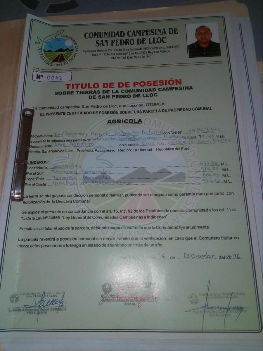 predio agrícola 120 hectáreas
