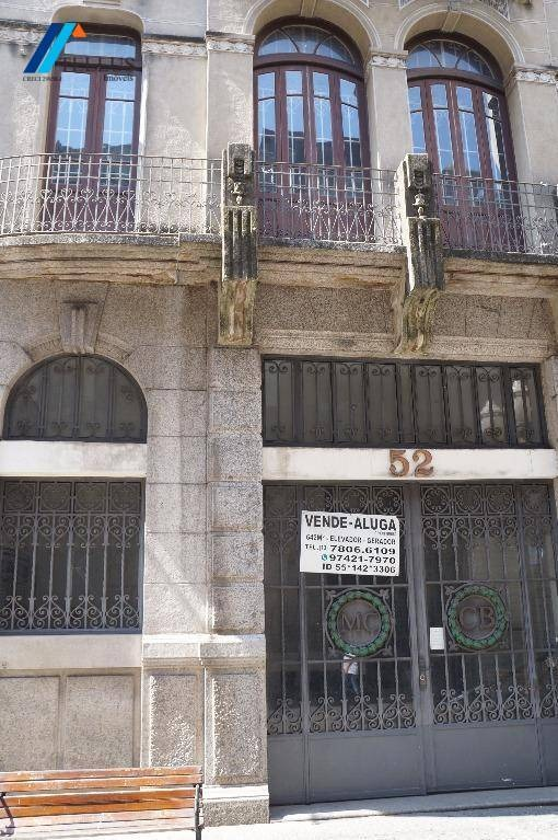 prédio comercial no centro histórico de santos. próximo a bolsa do café, escritório da petrobras, terminal marítimo, alfandega, bancos, rodoviária - ac0001