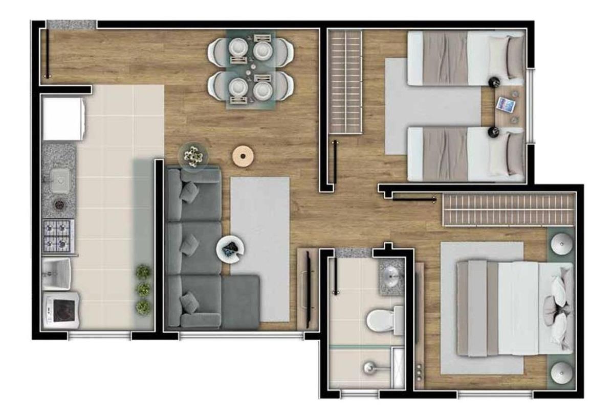 prédio único com 2 quartos 2 duas vagas, muito bem localizado. - 1139
