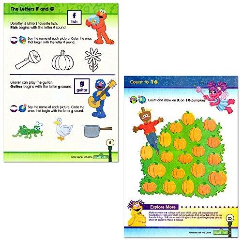 Preescolar De Sesame Street Workbooks (conjunto De 4 Libros