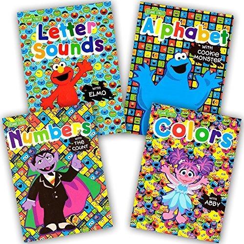 Sesame Street Workbooks Preschool Set of 4 Workbooks -- Alphabet with Elmo, Letter Sounds, Numbers and Colors B00YB7W3WQ