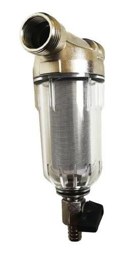 prefiltro de agua 3/4 pulgada capacidad 2000 l/h 40 micras