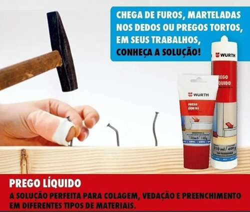 prego líquido adesivo cola plástico vidro madeira granito