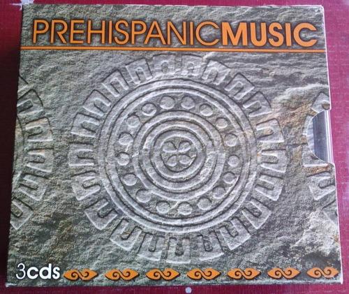 prehispanic music boxset de 3 cds raro 2005 en muy b condici
