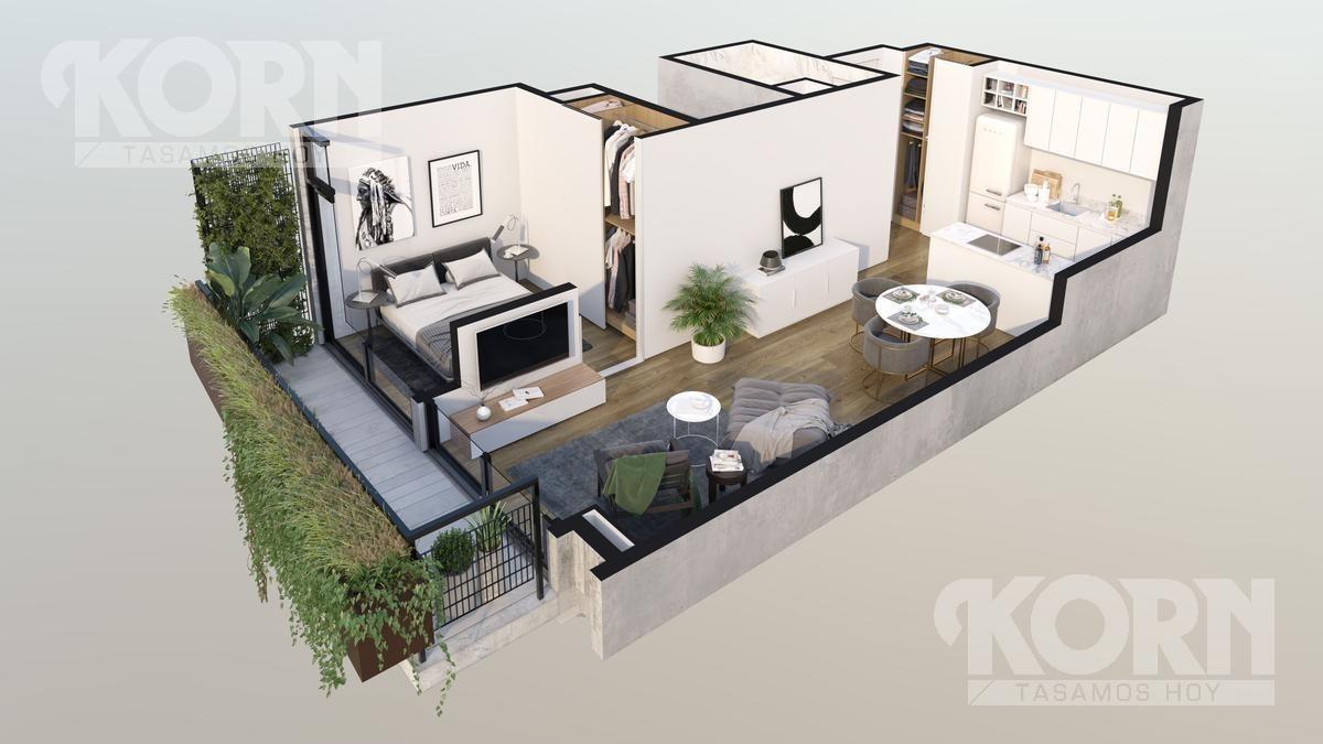 prelanzamiento - venta departamento de 2 ambientes en palermo hollywood