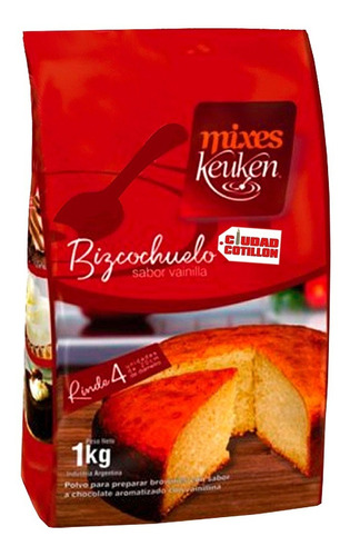 premezcla bizcochuelo sabor vainilla keuken x1kg532605169 37
