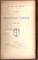 premières poésies 1829-1835 - alfred de musset