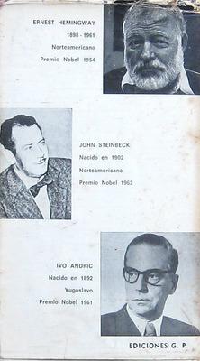 premios nobel, hemingway , steinbeck, andric, novelas