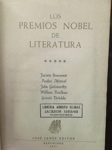 premios nobel literatura, vol 5to,1957, 1980 pag, josé janés