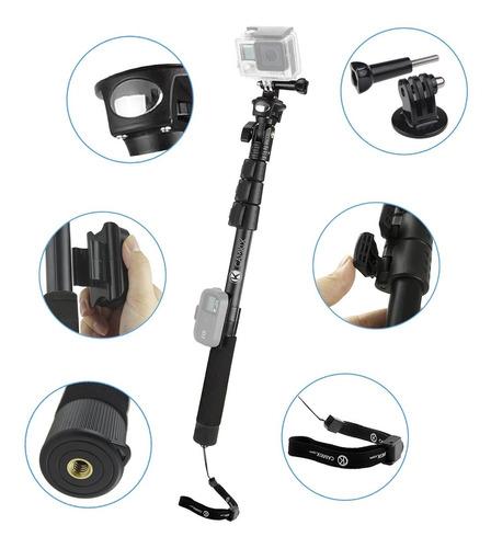 premium 3in1 pértiga telescópica 16-47 pulgadas y base de tr