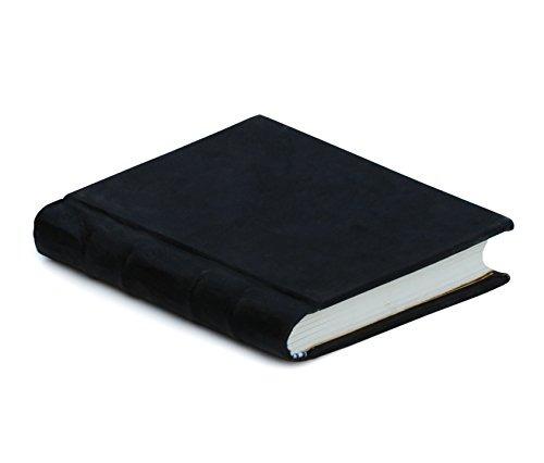 premium calidad 100% cuero diario de la escritura - negro p