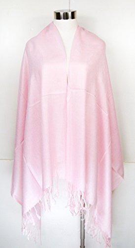 premium pashmina shawl wrap bufanda - rosa suave