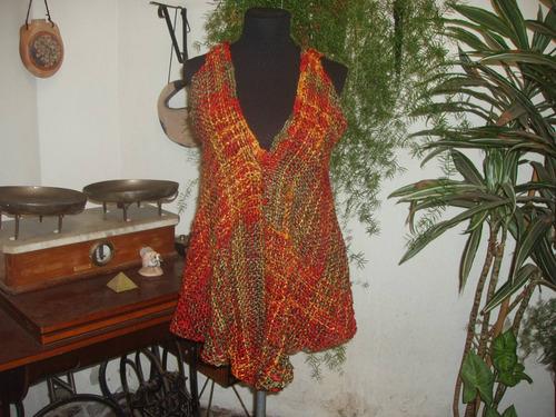prendas artesanales tejidas en telar