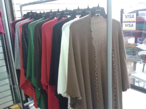 prendas para damas ruanas ,chompas,bufanda y capas
