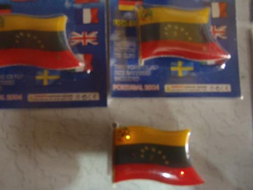 prendedor bandera de venezuela  con luces