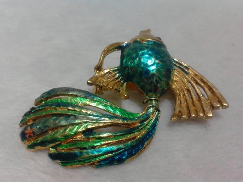 prendedor broche pin de pez dag made spain años 60 vintage