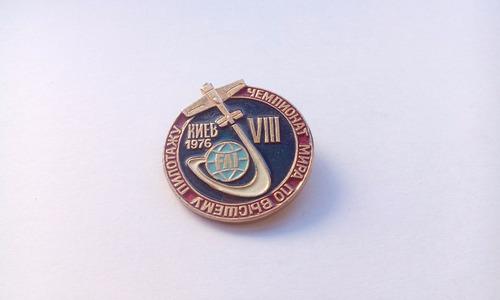 prendedor campeonato mundial aerobático kiev 1976 fai  viii