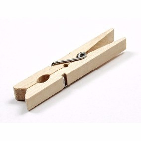 prendedor de madeira para roupas 9 cm resistente c/ 120 unid