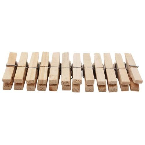 prendedor de roupa madeira premium - 12 unidades