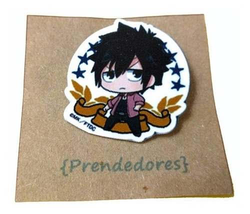 prendedor fairy tail anime gray