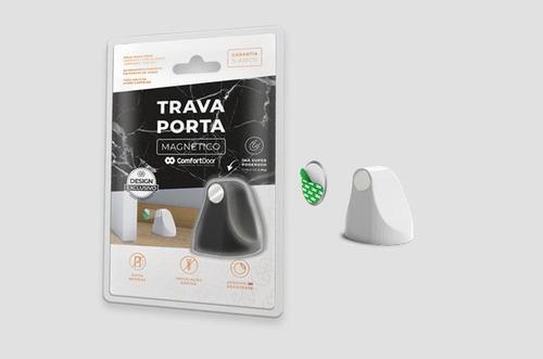prendedor porta magnético universal adesivo - branco