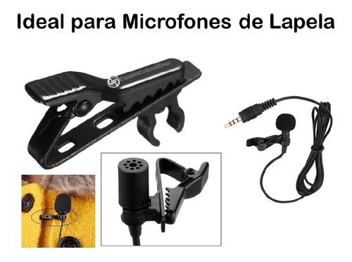 prendedor presilha clip metal para microfone lapela 01 par