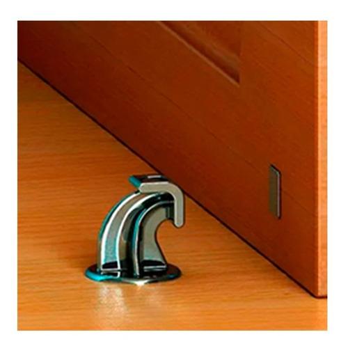 prendedor trava portas magnético com adesivo - cromado
