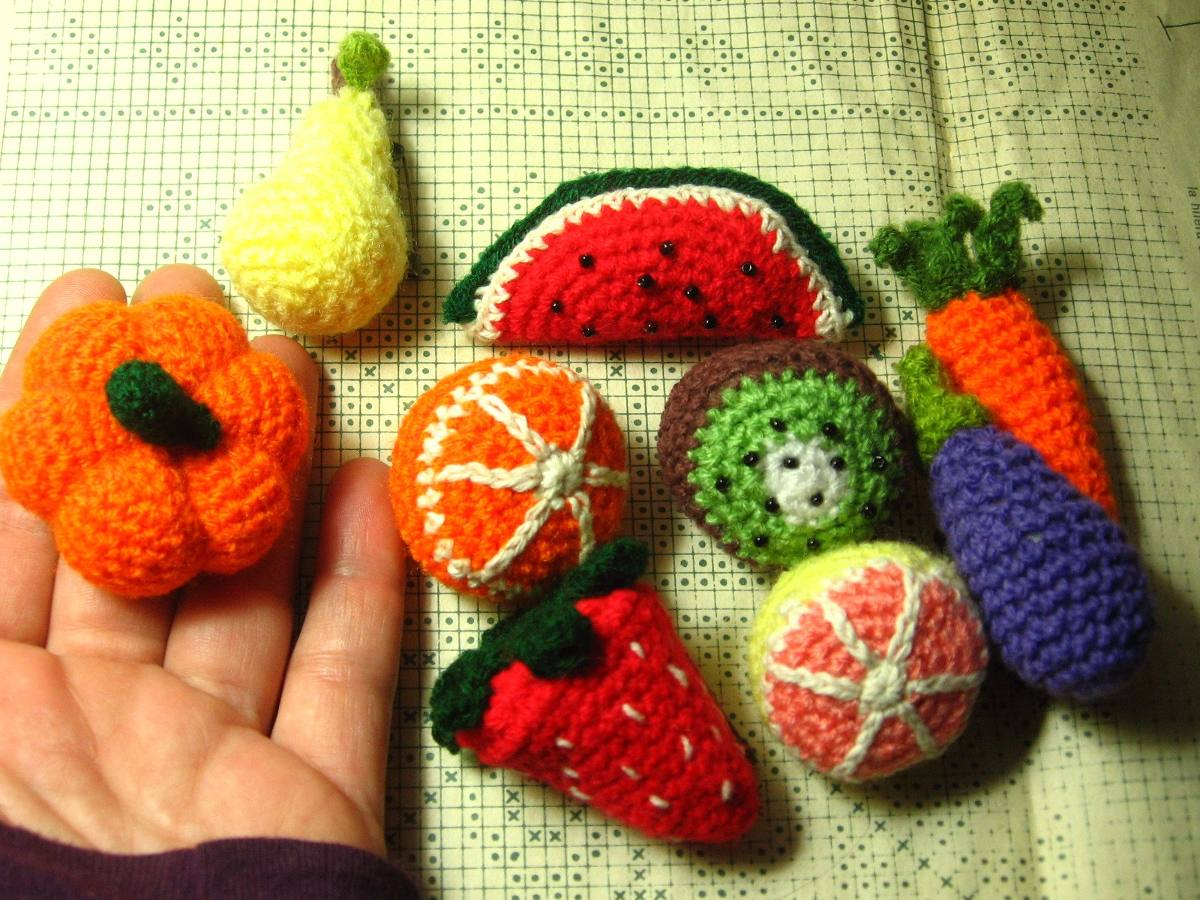 Amigurumi Fruits and Vegetables, Crocheted Fruits and Vegetables ... | 900x1200