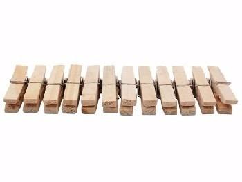 prendedores de roupa de madeira 12 unidades