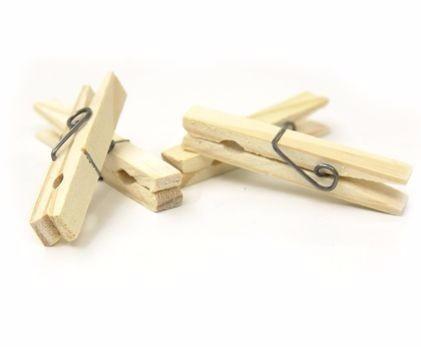 prendedores pregadores roupa em madeira 600 peças