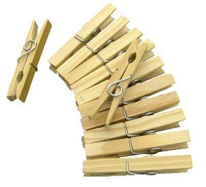 prendedores pregadores roupa madeira artesanato 144 unidades