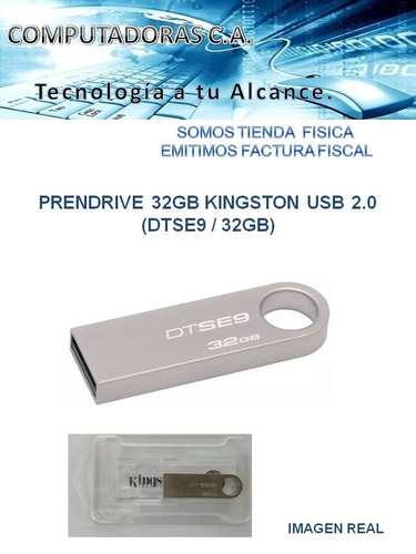 prendrive 32gb kingston usb 2.0 (dtse9 / 32gb