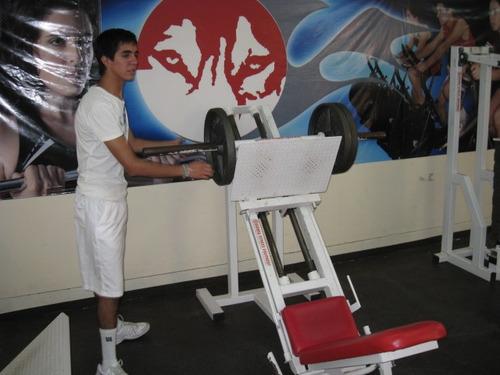 prensa 45 grados para disco olimpico marca: guerra fitness e