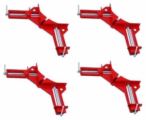 prensa angulos x 4 unidades 90° cuerpo de aluminio almagro