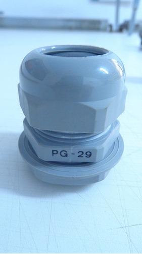 prensa cabo pg29 cinza com porca